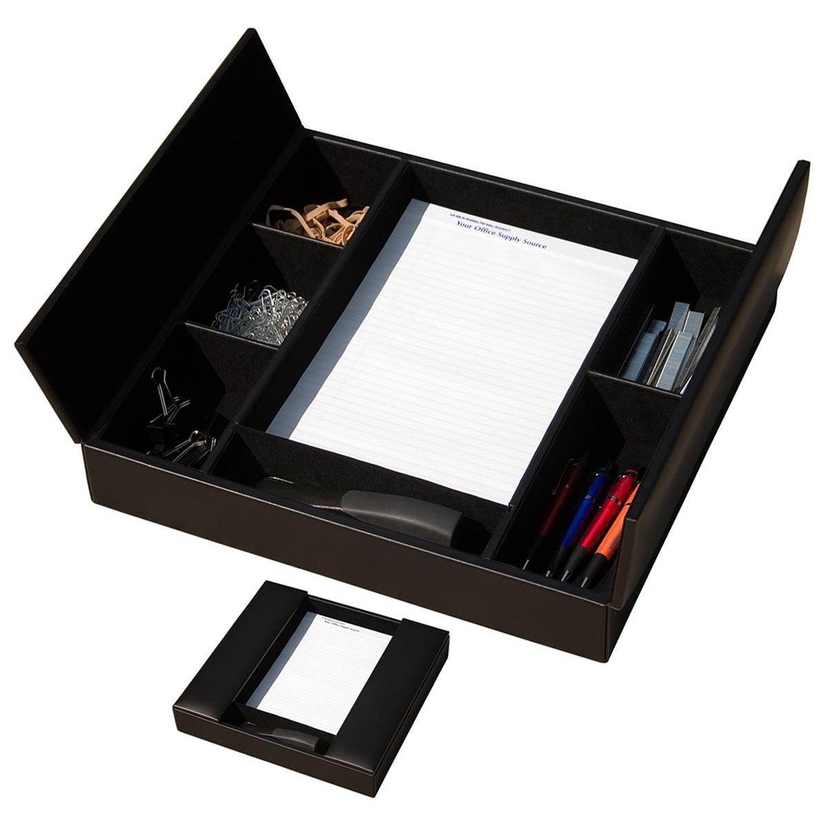 Leather desk accessories - Black Leather Conference Room Organizer Waulsruba3291
