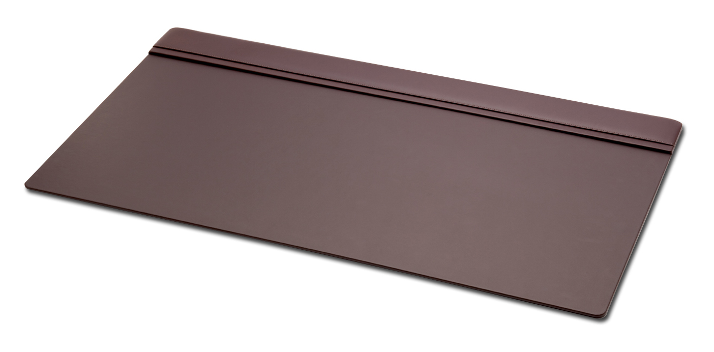 Chocolate Brown Leather Desk Pad  With   Top-Rail  WAUCUSTP37090