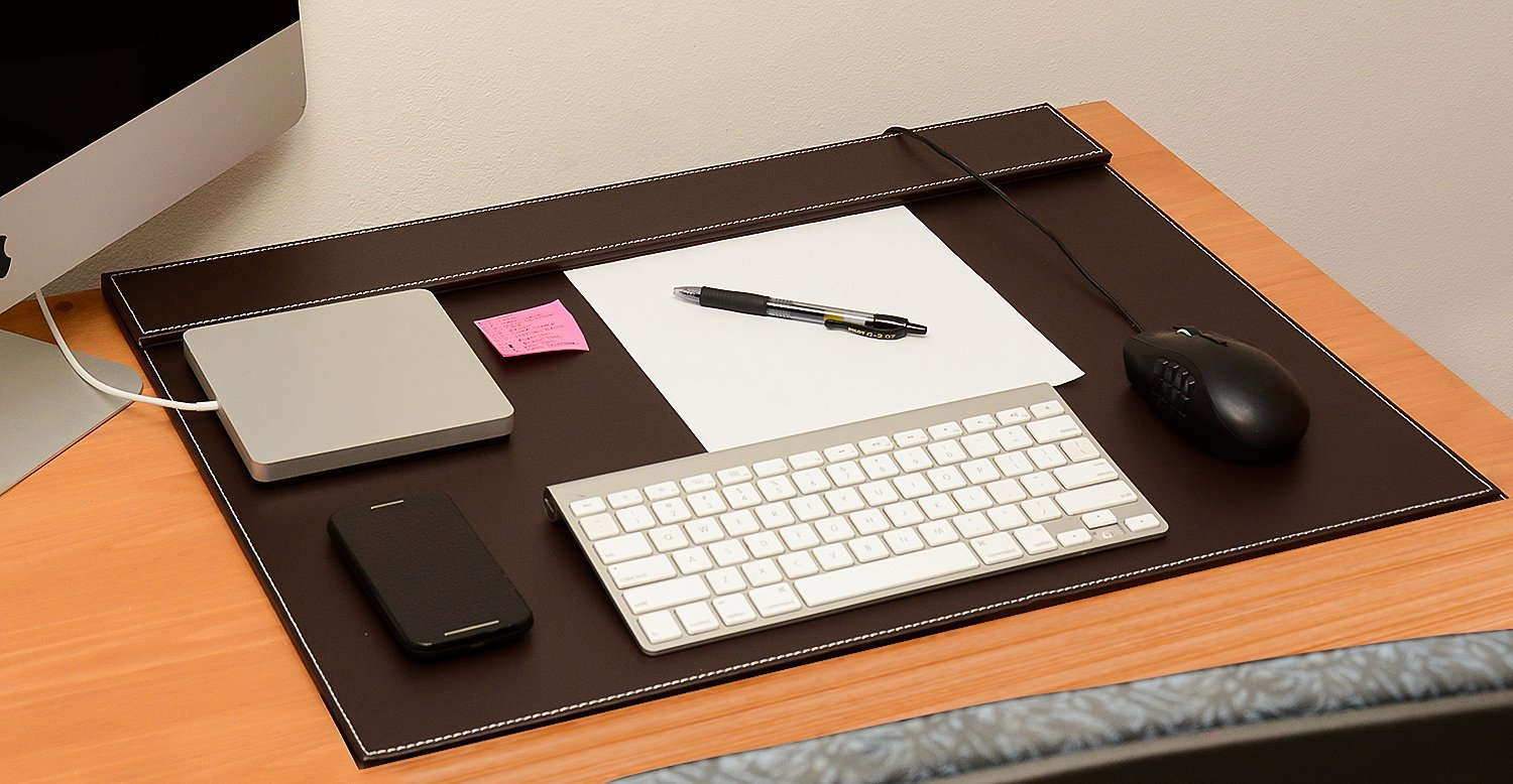 brown leather desk pad waucust300
